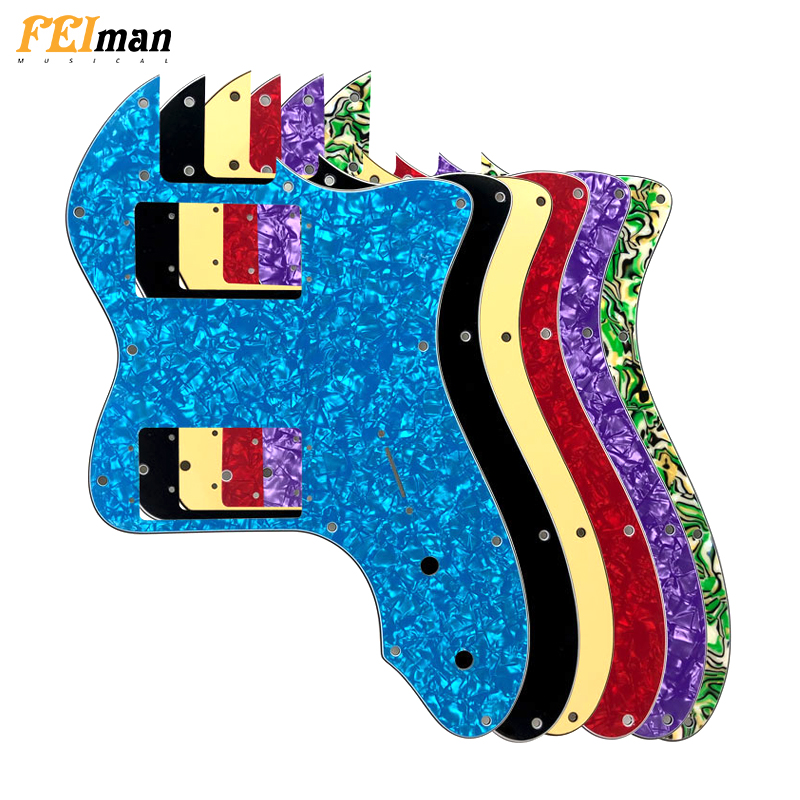 Pleroo Guitar Parts Pickguard For Classic Series '72 Telecaster Tele Thinline Guitar With Wide Range Humbucker Pickups