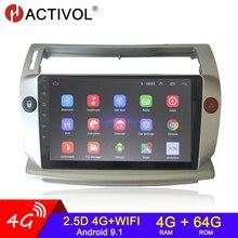 4G + 64G Android 9.0 2 Din Radio Âm Thanh Đồng Hồ Định Vị GPS Cho Đồng Hồ C4 C Khải Hoàn Môn C Quatre 2004 2009 Không Xác Định Phụ Kiện Xe Hơi