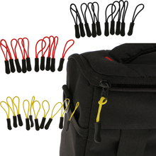 10pcs Zipper Pulls Replacement Zip Fixers Cord Puller Slider Jacket Backpack Black/Yellow/Red