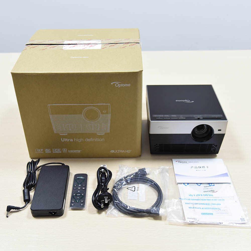 Optoma UHL55 i5 DLP 4K projektör ile Android Wifi gerçek 4K tv ev sinema 3D Video Dolby 5.1 videoprojecteur Proyector HDMI USB