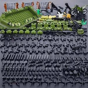 Military Series Building Blocks Brick toys for kids City SWAT Police Gun Weapons Pack Army WW2 Weapon accessories