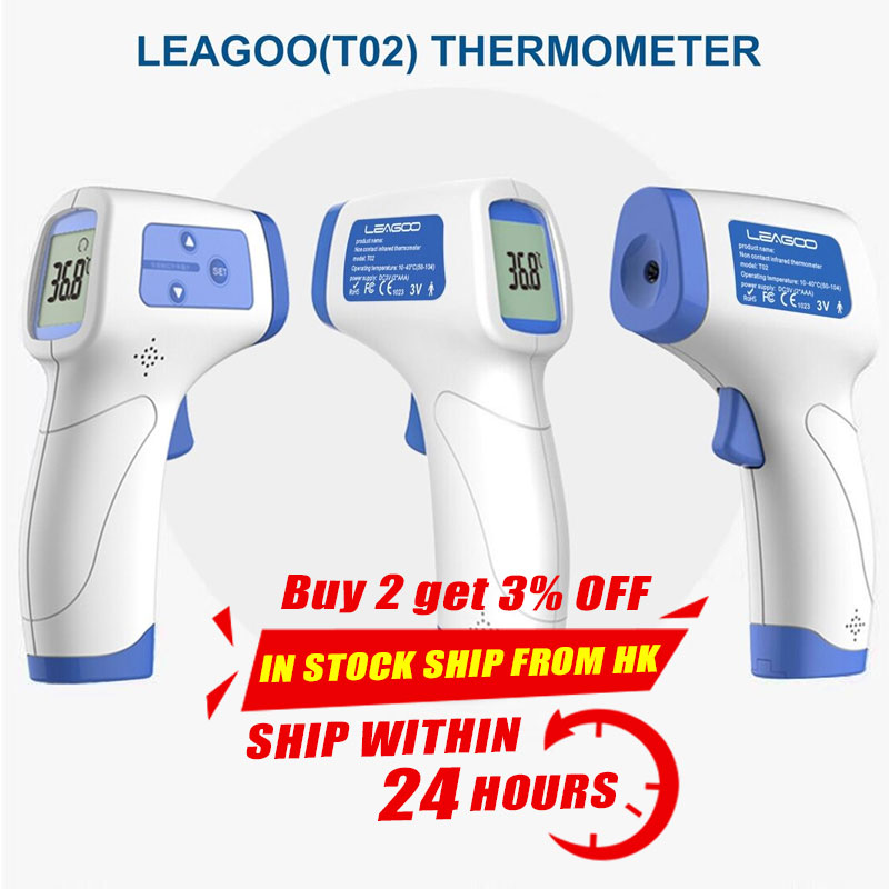 LEAGOO T02 Non-contact Forehead Body Infrared Thermometer Body Temperature Fever Digital Measure Tool In Stock Fast Shipping