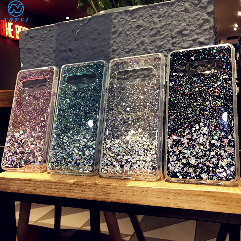 Cases For Samsung Galaxy S20 Plus Glitter Case A51 A71 A91 Capa S10E S9 M40 M30 M20 M10S Bling Phone Case S20 Note 10 Pro Cover image