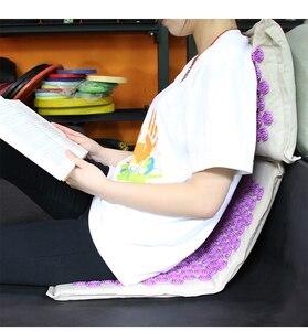 Image 5 - Procircle指圧マット枕セットマッサージリネン綿鍼マットバックネックバッグ疼痛緩和より良い深い睡眠