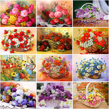 DIY Flower 5D Diamond Painting Full Round Drill Mosaic Diamond Embroidery Cross Stitch Homre Decor sunflower diamond paiting flower diamond painting full cross stitch diamond painting full drill round