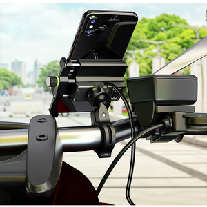 Image 5 - With USB Charger moto Mobile Phone Holders Stands Motorcycle Phone stand Holder Universal For iphone motorcycle cellphone holder