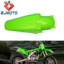 עבור Kawasaki KX KLX KXF 65 125 250 450 פלסטיק ירוק מגני בץ אוניברסלי לכלוך אופני מגן מוטוקרוס אביזרי אחורי פגושים