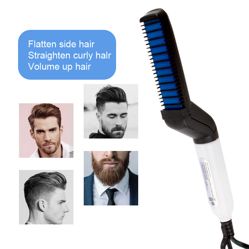 Multifunctional Hair Comb Brush Beard Straightener Hair Straightening Comb Hair Curler 2