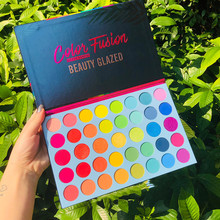 Schönheit Glasierte 39 Farbe Fusion Regenbogen Lidschatten Pallete Schimmer Pigment Rainbows Make-Up Lidschatten-palette Kosmetik