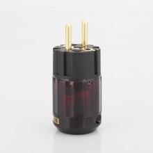 قابس ذكر عالي الجودة مطلي بالذهب P079E Schuko ، موصل صوت ، قابس HIFI افعلها بنفسك ، سلك طاقة ، 5 قطع