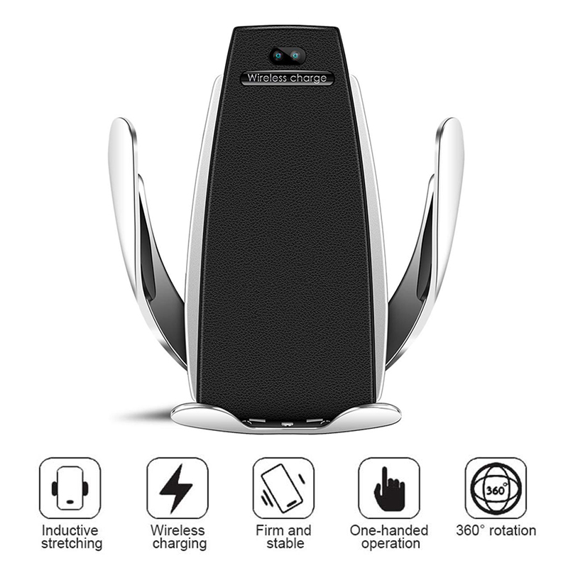 Car-Charger Automatic-Clamping-Mount Samsung IPhone X Wireless 1 For Draadloze S5 10w