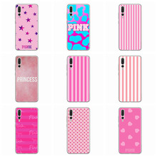 Мягкий чехол для huawei Honor 7A 8A 8X 8C 9 10 mate 20 P Smart P10 Lite Nova 3 TPU Love pink Star Cover D168(China)