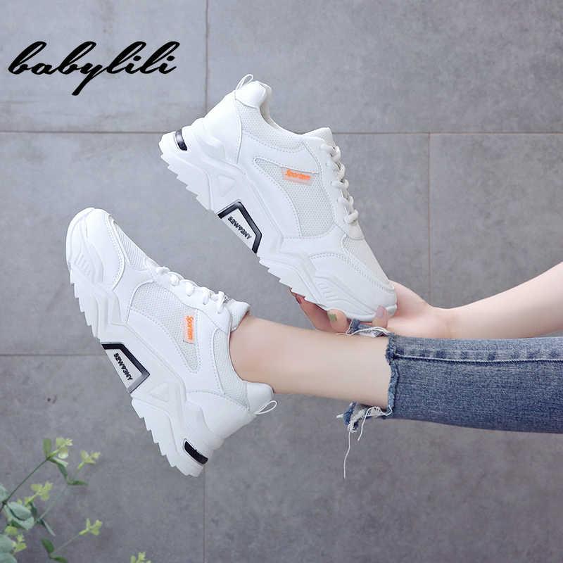 Frauen Sneaker Weiße Turnschuhe für Frauen Mode frauen Schuhe Frauen Vulkanisieren Schuhe Casual Weibliche Keil Plattform Turnschuhe Schuhe
