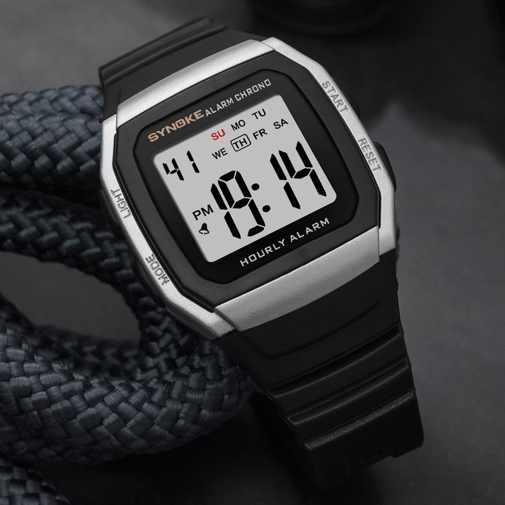 SYNOKE Men's Watches Sports Watch Fashion Unisex Waterproof Alarm Man Digital Wrist Electronic Male Clock Relogio Watch Men