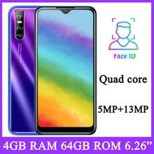 Mobiele Telefoon P40 Pro Android Gezicht Id Erkenning 6.26 ''Water Drop Screen Unlocked Smartphone 4G Ram 64G rom Originele Mobiele Telefoon