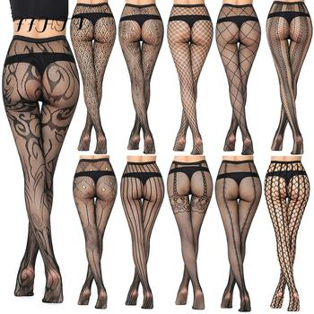 New Arrival Plaid Women Pantyhose Sexy Solid Fishnet For Lace Lingerie