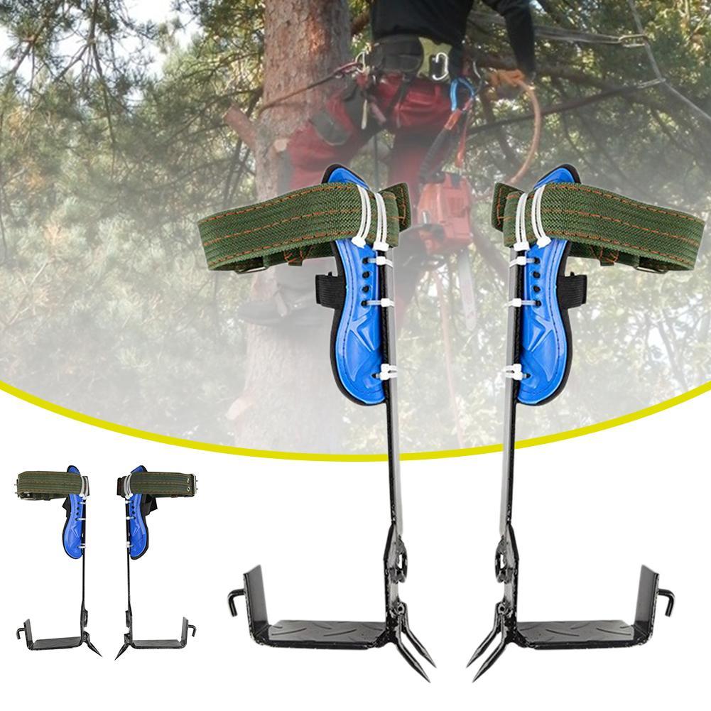2 Gears Tree Climbing Spike Set Safety Belt Adjustable Lanyard Rope Rescue Belt Tree Climbing Tool Outdoor Gadget - 5
