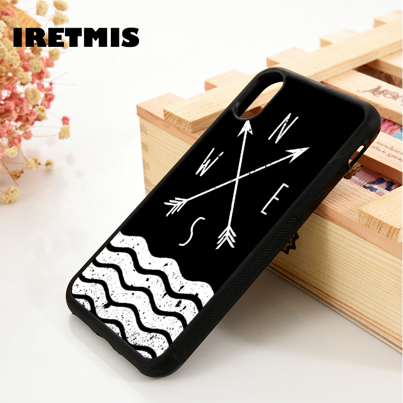 Iretmis Phone-Case Nautical Sea-Arrows 9-Compass Samsung Galaxy Designs Note For S6 S7