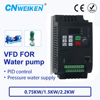 Water supply controller with constant pressure for pump converter 380V0.75kw/1.5kw/2.2kw ac motor speed controller