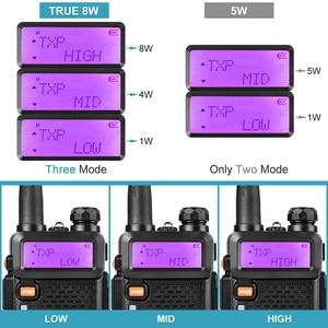 Image 2 - BaoFeng UV 5R iki yönlü radyo gerçek 8W 10KM 128CH çift bant VHF(136 174MHz)UHF(400 520MHz) amatör amatör el telsizi