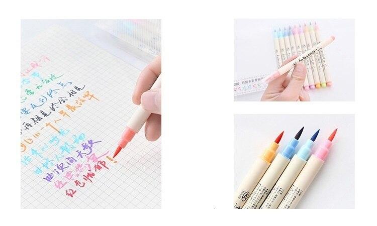 10 pçs toque marcador conjunto escrever pincel