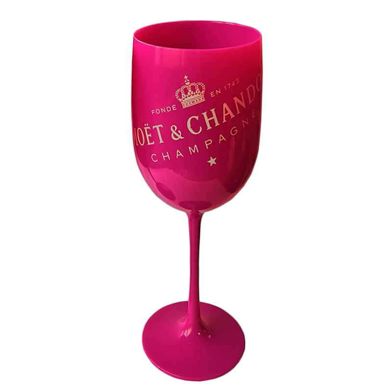 Mystical Black Plastic Acrylic Goblet Moet Champagne Glass Acrylic Plastic Cups Celebration Party Drinkware Drinks