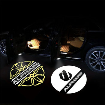 цена на 2X LED Door Welcome Lights For Toyota Alphard Vellfire Logo Laser Projector Courtesy Light Ghost Shadow Light Car Accessories