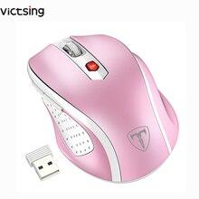 VicTsing bezprzewodowa mysz 2.4G mobilne myszki optyczne z odbiornikiem USB 5 regulowane przyciski poziomu DPI 6 dla notebooków