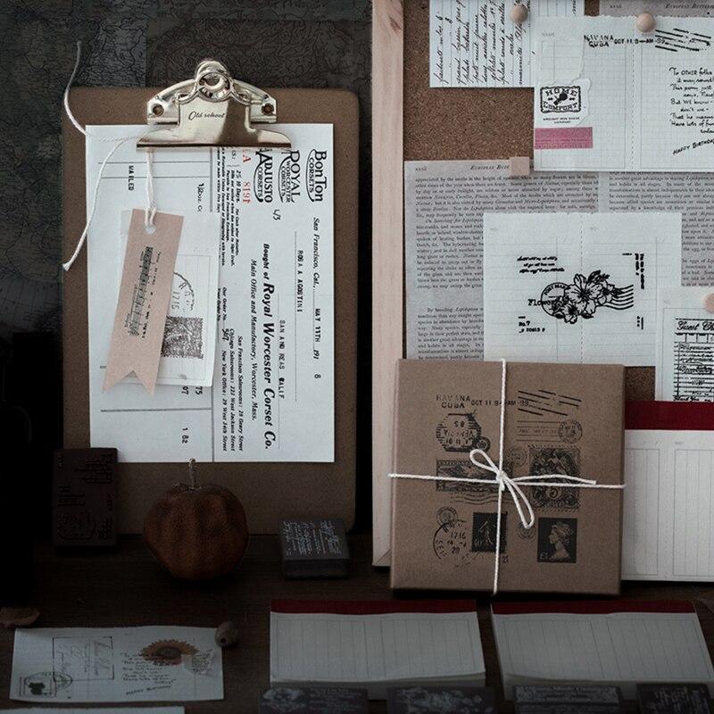 Yoofun Poster Ticket Flower Hallelujah Poem Wooden Rubber Stamp Kit for Scrapbooking DIY Craft Stand