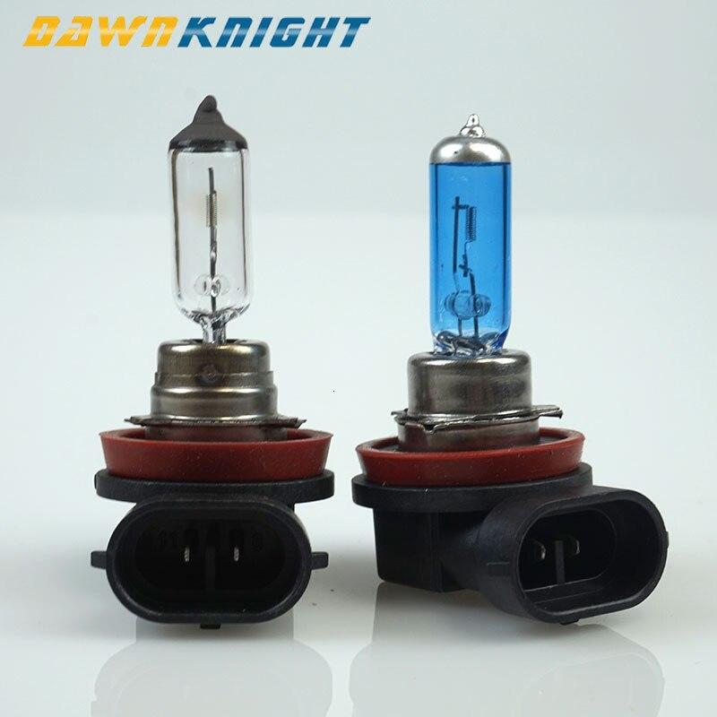 1PCS H11 55W 12V Halogen Lamp 3000K 4200K 5000K White H11 Car Headlight Lamp Motorcycle Light Blue Quartz Glass Halogen Bulb