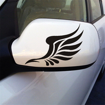 New Car Styling Sticker Angel Wings Lovely Reflective Car Stickers Fashion Car Rearview Mirror For Strip Subsection CT-530 image