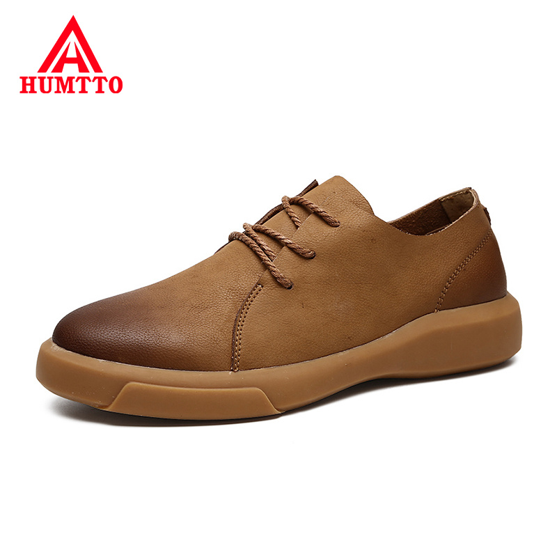 Buy Spring Leather Business Casual Shoes Men luxury Brand Fashion Mens Shoes Breathable Non-slip Lace-up Male shoe Big Size 38-47