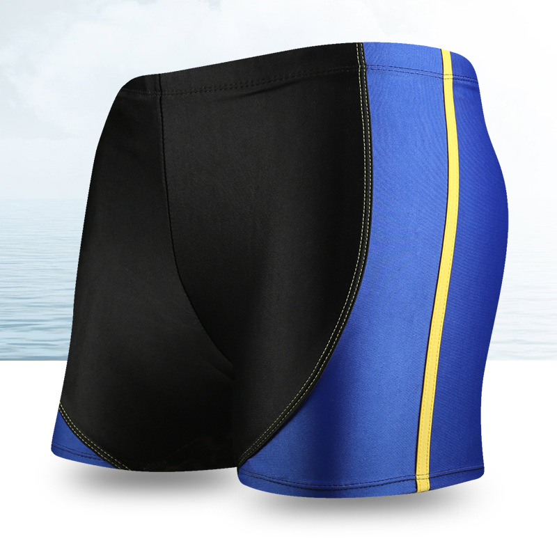Adult Swimming Trunks Men's Boxer Beach Shorts Comfortable Lace-up Loose-Fit Quick-Dry Swimming Trunks Yk09887