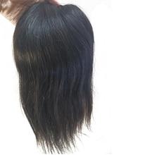 "1Pcs 5X5 ""משלוח סגנון אישה מונו תחרה סגירת אביזרי תחרה אור למעלה עם שמסביב Pu, בסיס צפיפות 120% אדם רמי שיער"
