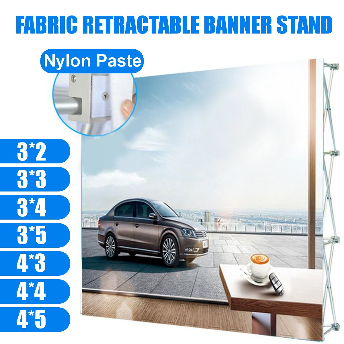 7 Sizes Aluminum Alloy Display Banner Stand Retractable Display Banner Stand Paste Stand Flower Wall Frame Backdrop Banner Rack