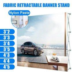 7 tamaños de aleación de aluminio pantalla soporte retráctil pantalla Banner soporte pasta soporte flor pared marco telón de fondo Banner Rack