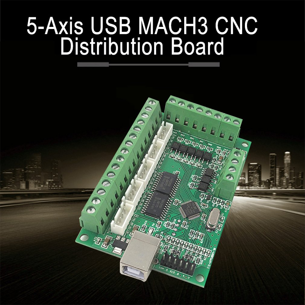 <font><b>USB</b></font> <font><b>MACH3</b></font> <font><b>CNC</b></font> Breakout Board <font><b>100KHz</b></font> Driver Motion Controller 5-Axis Interface Driver Motion Controller image