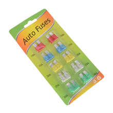 Fuse Insurance-Pieces-Set Durable 30A 10-30A 10PCS Safety-Film Zinc-Alloy Trendy