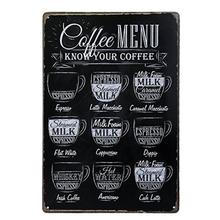 Coffee Metal Tin Sign Retro Cafe Wall Decor Vintage Poster Home Restaurant Bar Shop Decorative Iron Painting