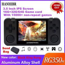 Juego Retro ANBERNIC RG350m HDMIVideo consola de juegos Upgrade ps1 juego 64bit opendingux 3,5 pulgadas 15000 + juegos RG350 regalo para niños