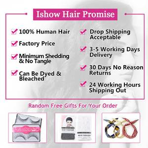 Image 5 - Ishow Straight Hair Bundles with Closure Peruvian Hair Bundles with Closure Human Hair Bundles and Closure for 4x4 Closure Wig