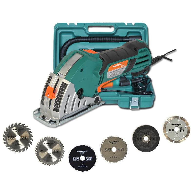 Mini Machine de découpe 500W outils électriques pour le travail du bois Rails de tuiles en métal scie circulaire tronçonneuse perceuse électrique scie Machine à découper