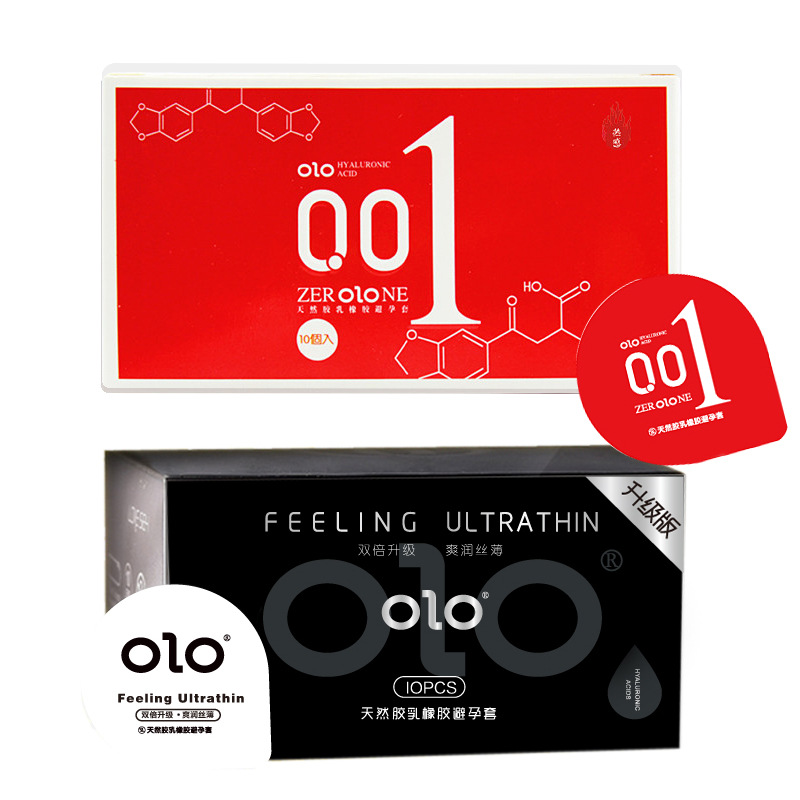 10 pcs/box OLO Condom Ultra Thin Cock Condom Intimate Goods Sex Products Natural Rubber Latex Penis Sleeve Sex For Men