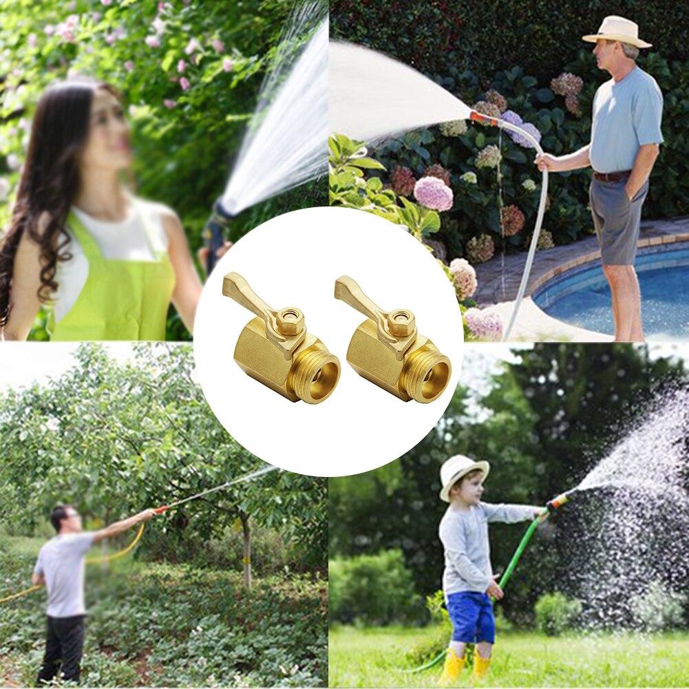 2 teile/satz Ergonomische Griff Durable Bewässerung Werkzeuge Stecker Feste Messing Fitting Garten Schlauch Wasser Sparen Abgeschaltet 3/4 Zoll