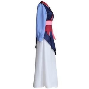Image 2 - Movie Mulan Cosplay Costumes Red Blue Drama Princess Dresses Skirt Hua Mulan For Women Girls Halloween Party Stage Clothing