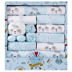 18 шт./лот; Одежда для новорожденных девочек; 100% хлопок; летняя одежда для маленьких девочек; мягкая одежда для маленьких мальчиков; шапочка д...