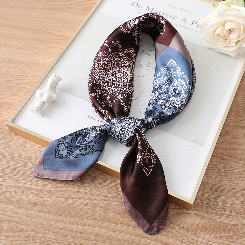 Women Silk Square Hair Scarf Print Lady Neck Chief Designer Head Scarves Bandana Accessories Shawls And Wraps Summer New 2020