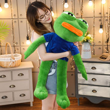 Special offer 50-90cm big eyes frog plush toy ins kawaii frog plush doll cushion doll puppet girlfriend gift free shipping top discount 4 colors big eyes diy nude blyth doll item no 70 doll limited gift special price cheap offer toy