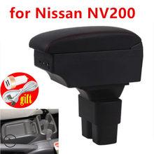 Para nissan nv200 caixa de apoio braço carro universal console central caja modificação acessórios duplo levantado com usb