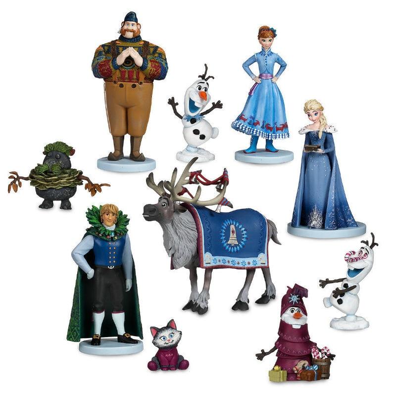 10Pcs/set Frozen2 Snow Queen Elsa Anna  PVC Action Figures Olaf Kristoff Sven Anime Dolls Figurines Kids Toys For Children Gifts